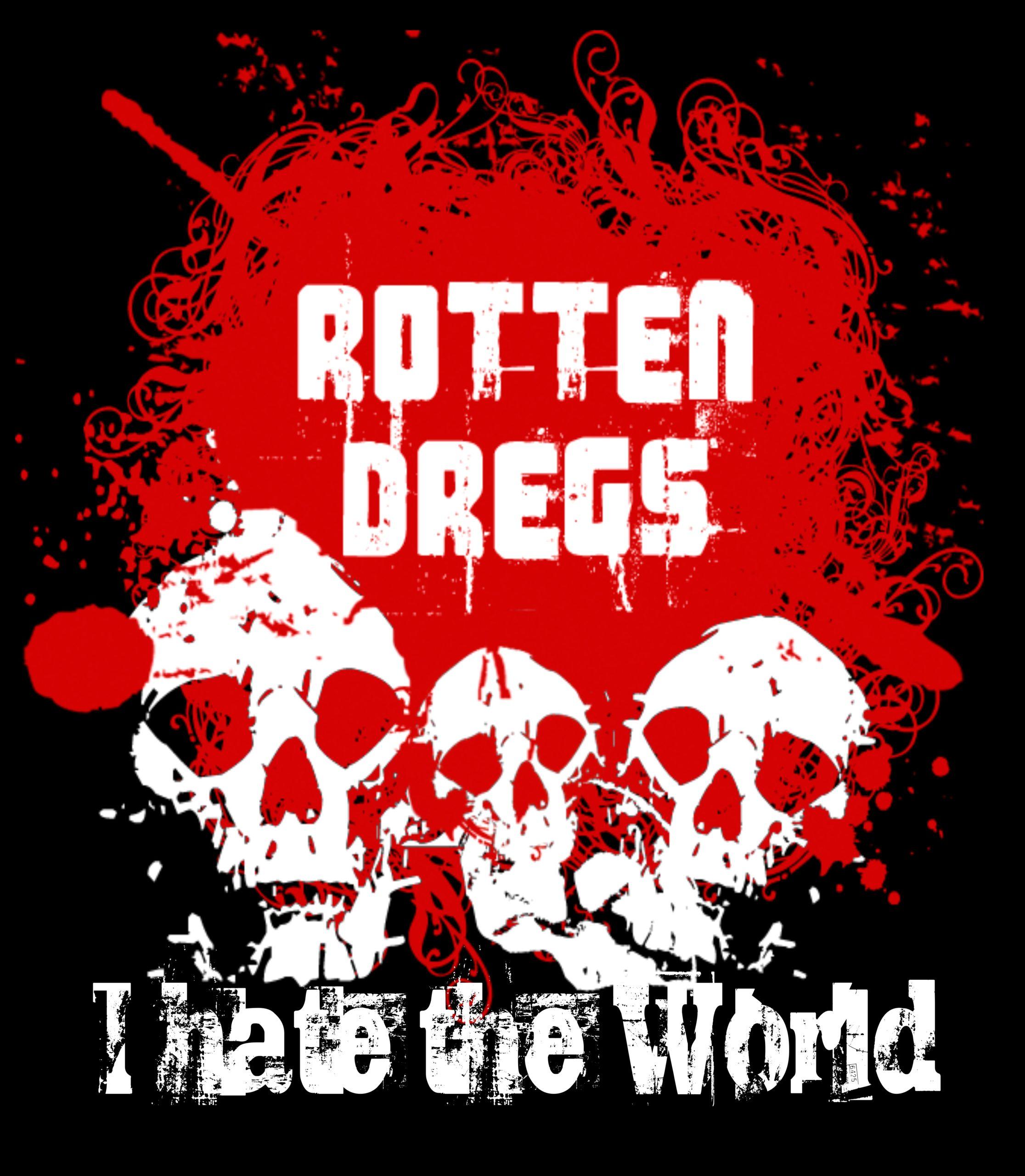 Back print, red-black, Rotten Skulls