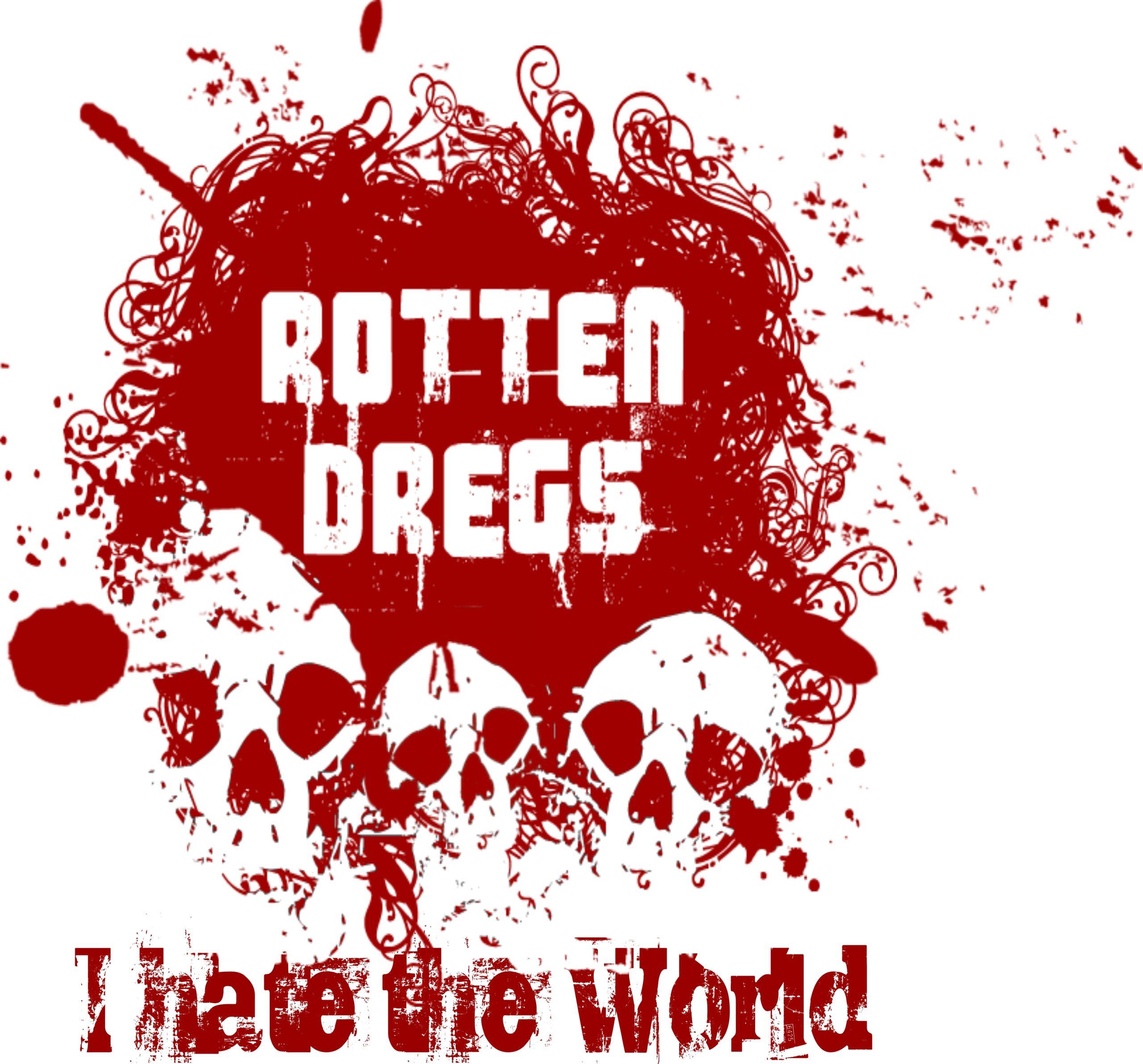 Back print, red-white, Rotten Skulls